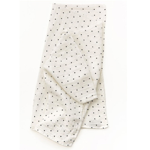Black & White Polka Dot Muslin
