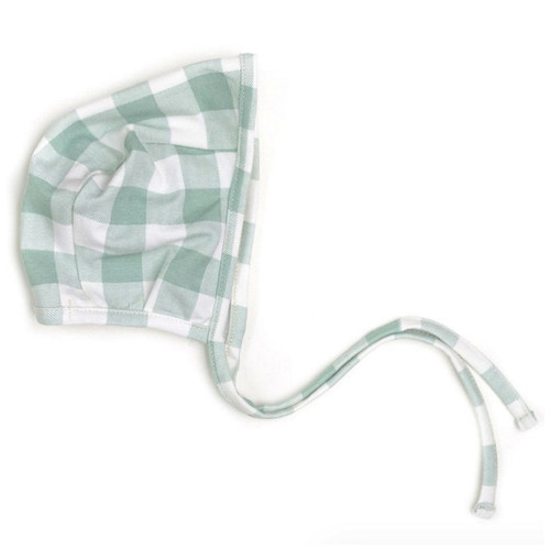 Sage Plaid Bonnet
