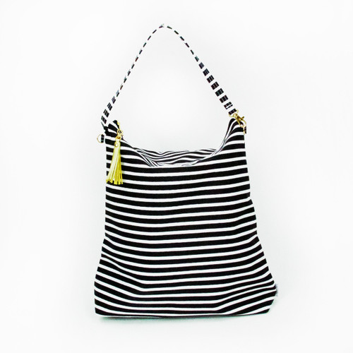 Hobo Bag Tote, Stripes