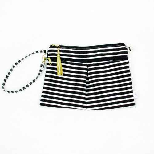 Waterproof Wristlet Clutch, Stripes