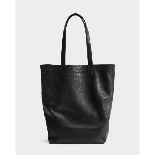 Basic Leather Tote, Black