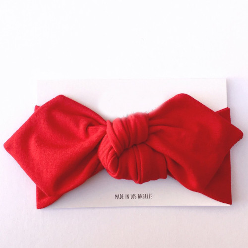Top Knot Headband, Cherry Red
