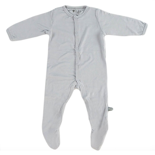 Bamboo Footed Romper, Storm