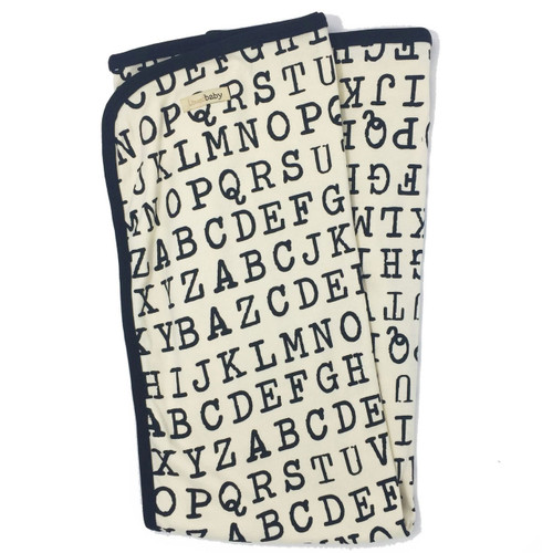 Organic Cotton Alphabet Blanket,