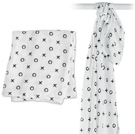 Hugs & Kisses Bamboo Muslin Swaddle