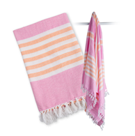 Turkish Towel, Pink & Apricot