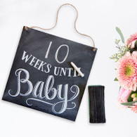 Countdown Until Baby Chalkboard Sign