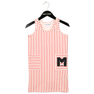 Mini Rodini Stripe Tank Dress, Red