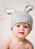 Bunny Hat, Grey/White