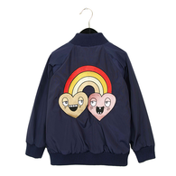 Mini Rodini Rainbow EMB Jacket, Blue