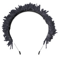 Fringe Crown Headband, Black