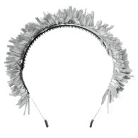 Fringe Crown Headband, Silver