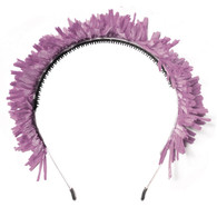Fringe Crown Headband, Plum
