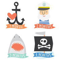 Little Captain Monthly Milestone Stickers (12), Lucy Darling