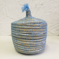 Moroccan Basket, Baby Blue