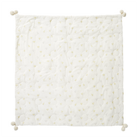 Baby Chick Quilted Pom Pom Blanket