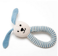 Bunny Ring Rattle, Blue