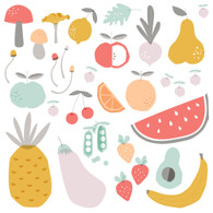 Fruit & Veggie Fabric Wall Decals