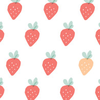 Strawberry Fabric Wall Decals