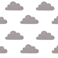 Clouds Fabric Wall Decals, Grey