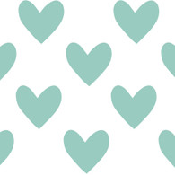 Hearts Fabric Wall Decals, DuckEgg Blue