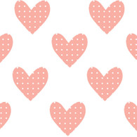 Hearts Fabric Wall Decals, Pink