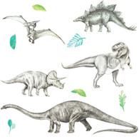 Dinosaur Invasion Fabric Wall Decals