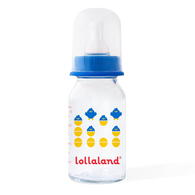 Glass Baby Bottle, 4 OZ Blue