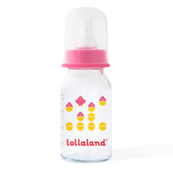 Glass Baby Bottle, 4 OZ Pink