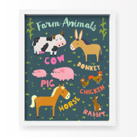 Farm Animal Art Print, 11 x 14