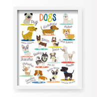 I Love Dogs! Art Print, 11 x 14