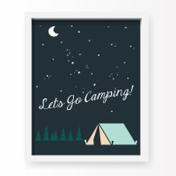 Let's Go Camping Art Print, 11 x 14