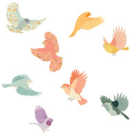 Flying Twitters Fabric Wall Decals