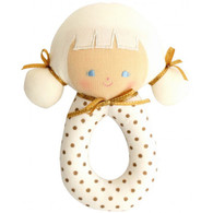 Audrey Grab Rattle, Gold