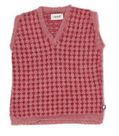 Oeuf Sweater Vest Red/Rose