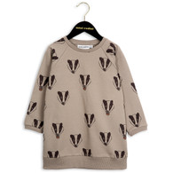 Mini Rodini Badger LS Sweat Dress Grey
