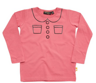 Rock Your Baby Trompe L'Oeil LS Tee, Pink