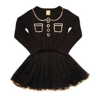 Rock Your Baby Trompe L'Oeil Circus Dress, Black