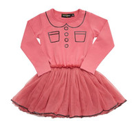 Rock Your Baby Trompe L'Oeil Circus Dress, Pink