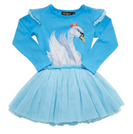 Rock Your Baby Swan Lake Circus Dress, Pale Blue