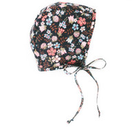 Midnight Blooms Liberty Baby Bonnet