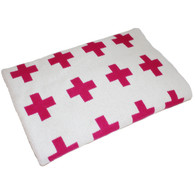 Eco Cross Baby Blanket PInk
