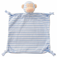 Monkey Security Blanket, Blue Stripe