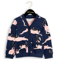 Mini Rodini Rabbit Cardigan, Dark Blue