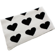 Eco Heart Baby Blanket Cream/Black