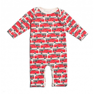 Organic Cotton LS Romper, Firetrucks