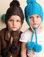 Cable Knit Pom Hat, Turquoise