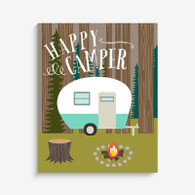 Happy Camper Art Print, 8 x 10