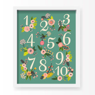 Lil' Learner Numbers Art Print, 8 x 10