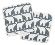 Bath Cloth Set, Blue Elephant